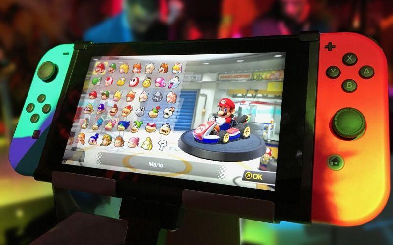 Nintendo med super mario som gaveide til børn i alderen 10-12 år