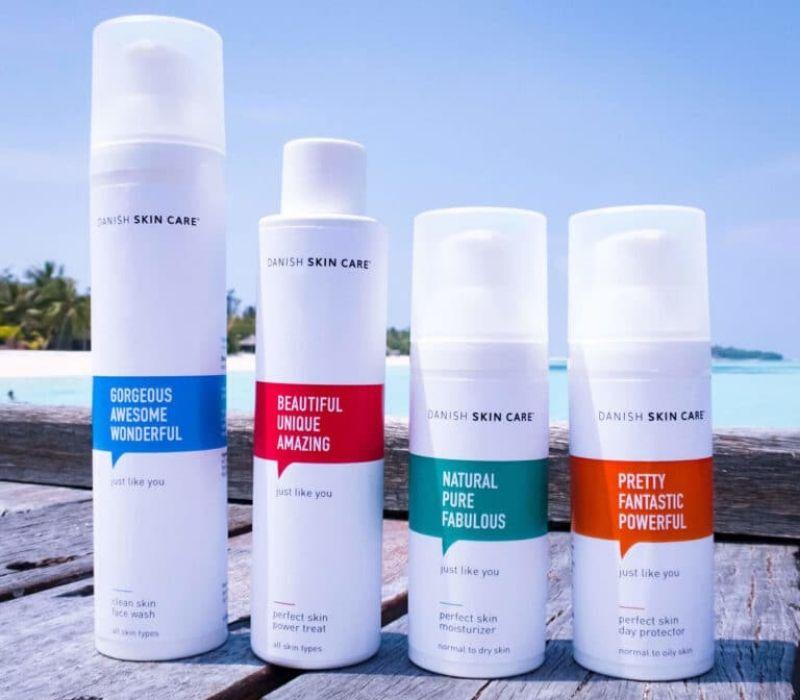 danish skincare sæt hudpleje produkter gaveide til moren