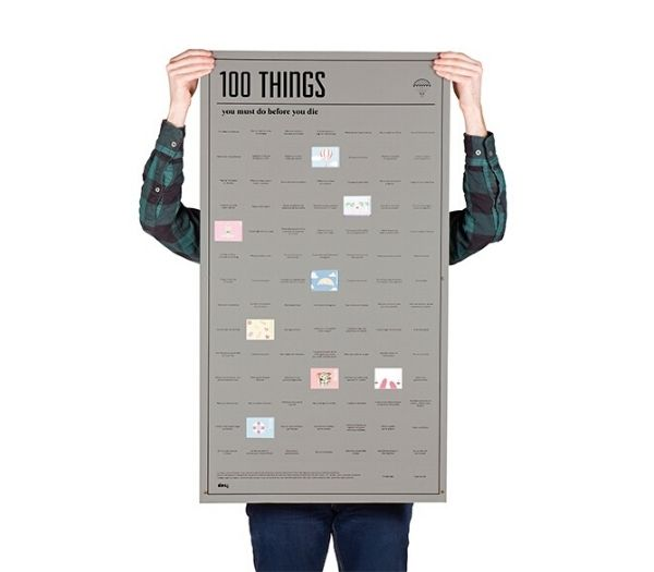 100 things you must do before you die plakat studentergaver