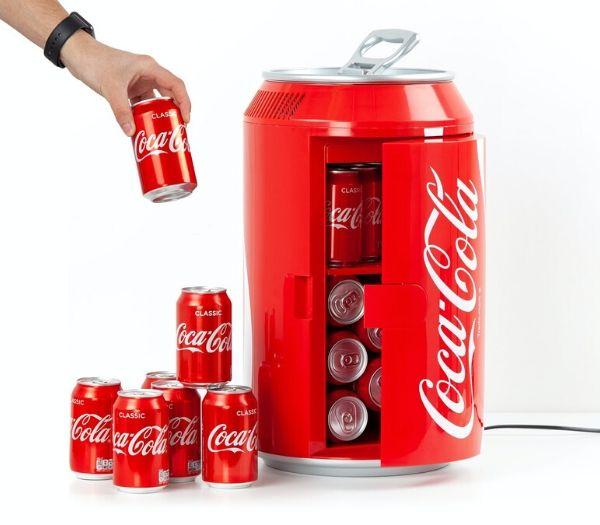 Coca cola minikøleskab gave til teenager drengen