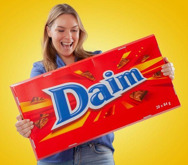 Gigantisk chokolade daim gave til studenten
