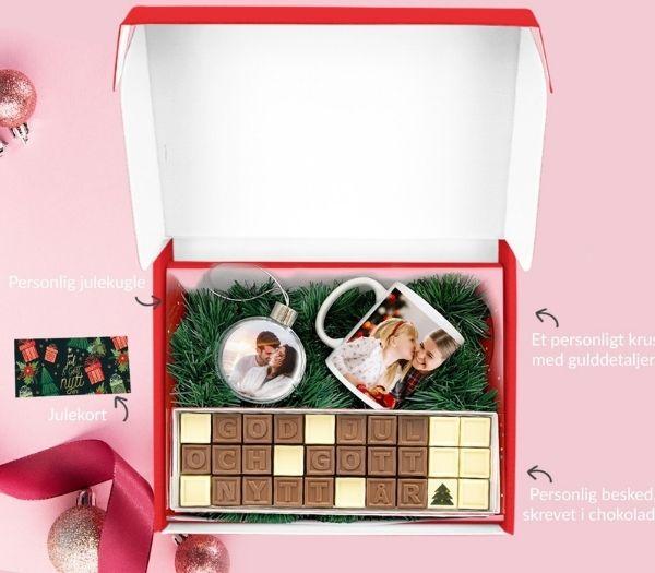 Personlig chokolade gaveæske