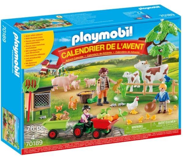 Playmobil julekalender på bondegården