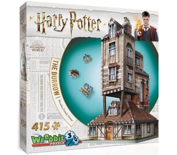 Harry Potter 3D Puslespil The Weasley Burrow