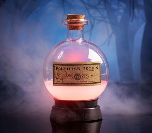 Harry potter polyjuice potion farveskiftende lampe