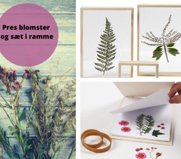 Blomsterbilleder DIY Julegaver Fra Børn