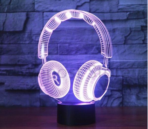 3D Lampe Høretelefon gave til teenager drengen