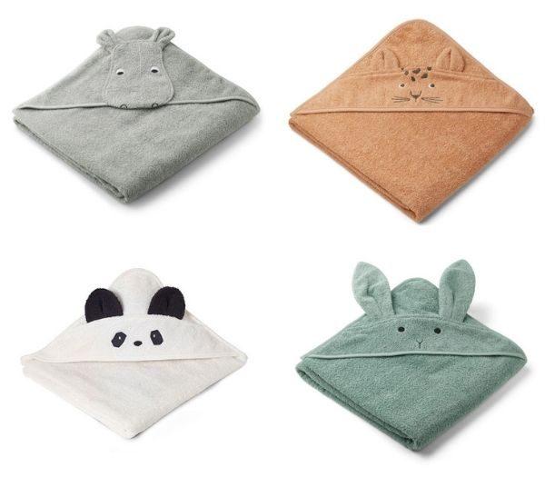 Babyhåndklæder med dyr