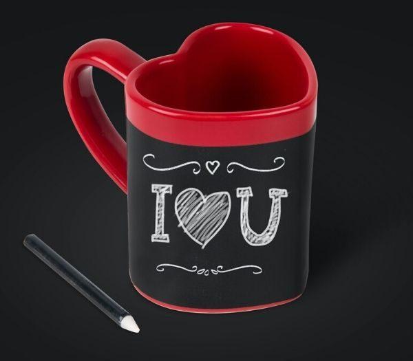 Hjerte krus med personlig besked gave til kæresten