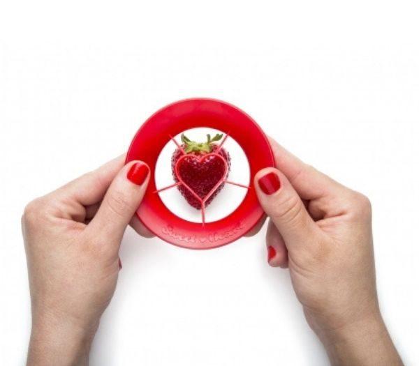 Jordbær formet frugtskærer gadget til køkkenet