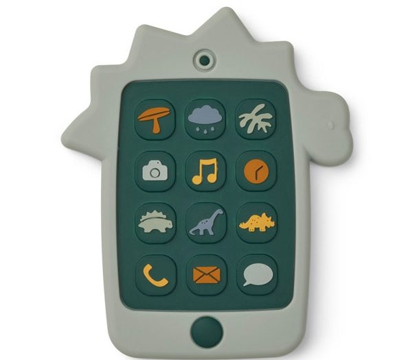 Liewood Silicone Mobile Phone - Dino Dove Blue
