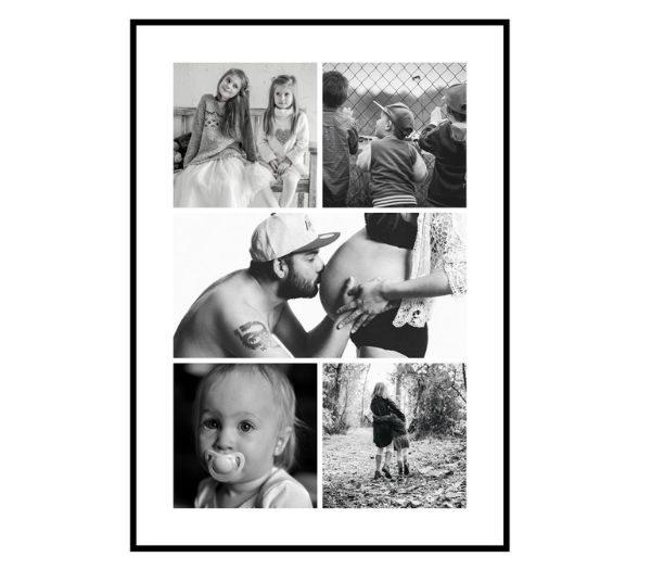 Personlig fotocollage med 5 billeder