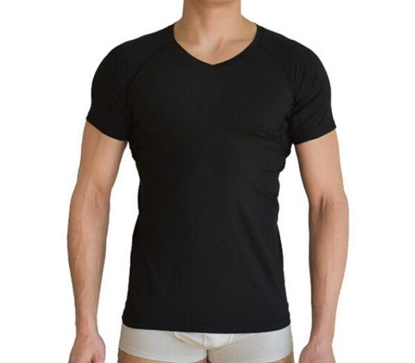 Svedstoppende herre t-shirt i sort