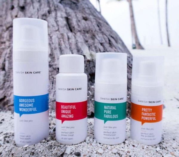 danish skincare minisæt hudpleje produkter gaveide til veninden